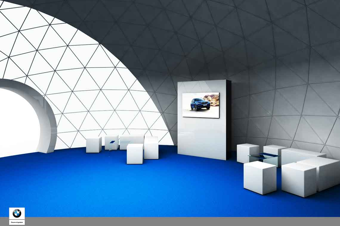 bmw dome structure 3d model