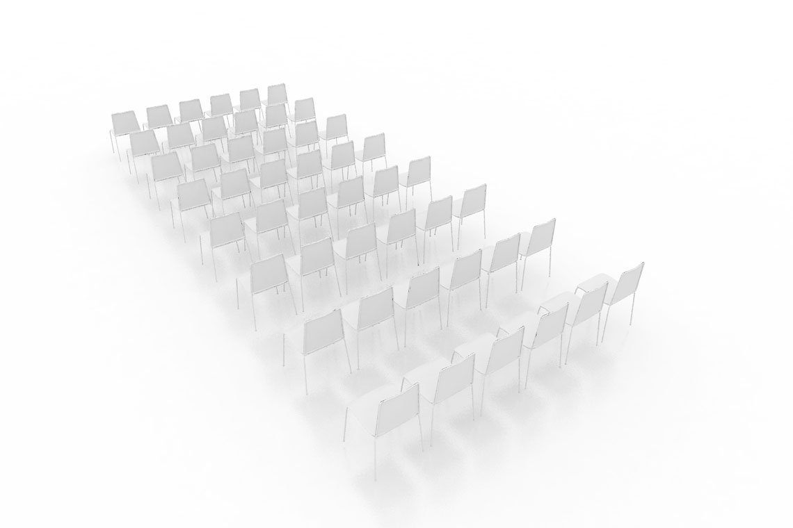 Conference Chairs 3D Model